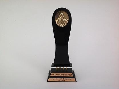 """Le Prix """"ESQR's Best Quality Leadership Award"""" à Las Vegas"""