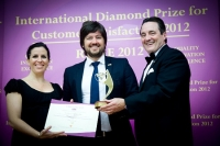 "El premio ""International Diamond Prize for Customer Satisfaction"" en Roma."