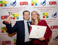 Grindeks (Latvia) received ESQR's International Diamond Prize for Excellence in Quality 2012 in Brussels.
