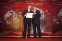 Air Baltic (Latvia) received ESQR's International Diamond Prize for Excellence in Quality 2012 in Brussels.