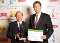 "Kikkoman Corporation de Japón recibió el premio ""ESQR's Quality Achievements Award 2013"" en Londres."