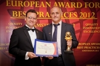 Philips (the Netherlands) received the European Award for Best Practices 2012 from the European Society for Quality Research (ESQR) in Amsterdam, the Netherlands.