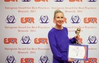 """Проект GreenEvo Министерства Oкружающей Cреды Польши получил награду """"European Award for Best Practices 2014""""  от ESQR на конвенции в Брюсселе (Бельгия) 1 июня 2014 г"""