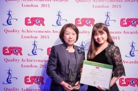 Cosmotopia Japan received the ESQR's Quality Achievements Award 2015 from the European Society for Quality Research (ESQR) at its Convention in London (the UK) on June 14, 2015.
