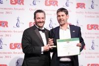BJSS из Великобритании получил награду ESQR's Quality Achievements Award 2015 от ESQR (European Society for Quality Research) на конвенции в Лондоне (Великобритания) 14 июня 2015 го�