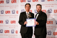 Mitsui Engineering & Shipbuilding Co. Ltd de Japón recibió el premio European Award for Best Practices 2016 de la ESQR (European Society for Quality Research) en la Convención en Bruselas (Bélgica), el 04 de junio del 2016.