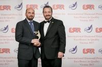 Tricentis (Autriche) a reçu le Prix International Diamond Prize for Excellence in Quality 2017 de l'ESQR (European Society for Quality Research) au Congrès à Vienne (Autriche), le 9 décembre, 2017.