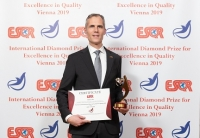 Medivir AB from Sweden received the ESQR's International Diamond Prize for Excellence in Quality 2019 in Vienna, on December 9, 2019.
